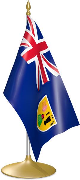 Turks and Caicos Island table flags - desk flags