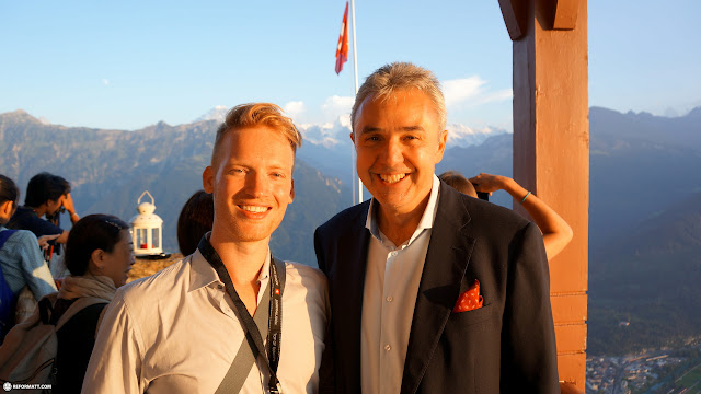 meeting CEO Urs Kessler at Harder Kulm in Interlaken in Grindelwald, Bern, Switzerland