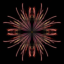 Firework Flower2 by Helen Nickisson - Abstract Patterns ( pattern, wall art, abstract, artwork, fireworks, flower )