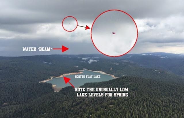 OVNI UFO é alegadamente fotografado em lago da Califórnia EUA