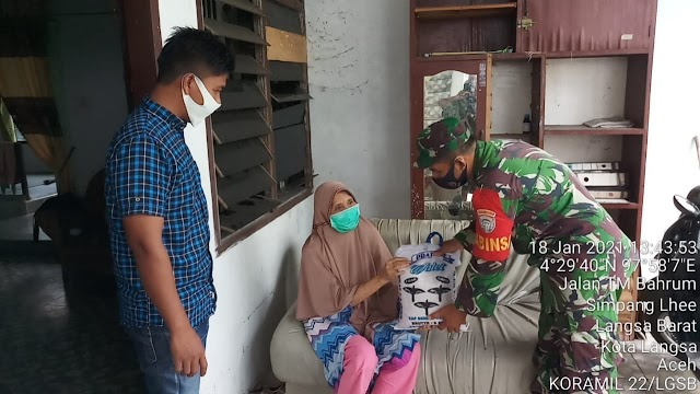 Pangdam IM Salurkan Bantuan Sosial Beras Kepada Korban Konflik Aceh Dan Kaum Duafa