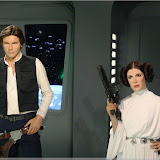 Harrison Ford (Han Solo) und Carrie Fisher (Leia)