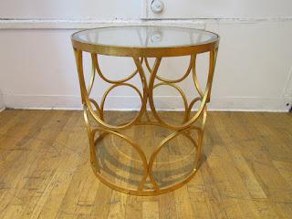 Gold Leaf End Table