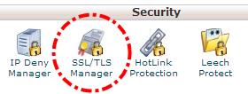 SSL/TLS Manager pada cPanel