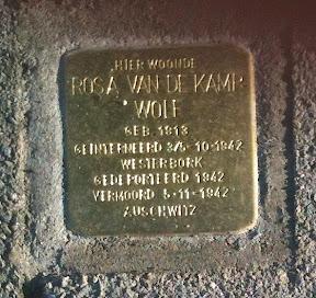 Rosa van de Kamp - Wolf - Da Costastraat 29 - Stolperstein Enschede.