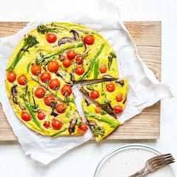 Broccoli, Tomato & Mushroom Frittata
