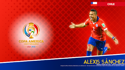 Wallpaper Copa América 2016 - Chile (Alexis Sánchez) - 1366x768