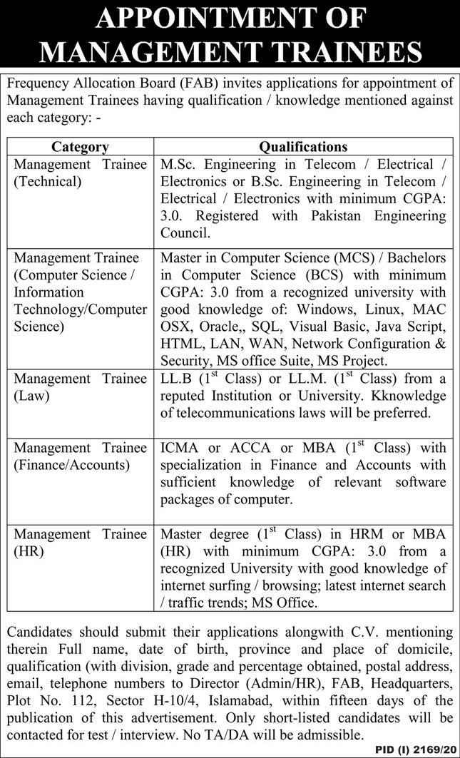 Frequency Allocation Board Jobs 2020