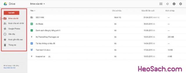 Hình 4 - Hướng dẫn sử dụng Google Drive để lưu dữ liệu