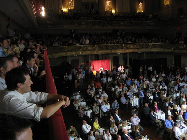 The balcony was packed by the time the matches started