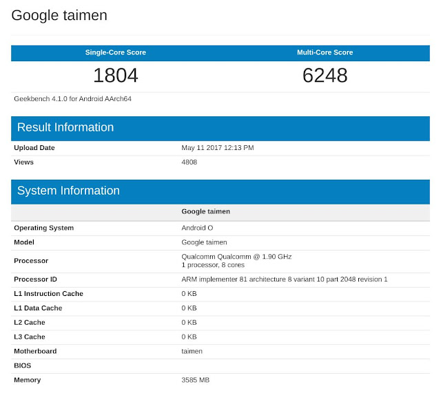 """One Of Google's Upcoming Android Smartphone """"Taimen"""" Will Have 4GB RAM 2"""