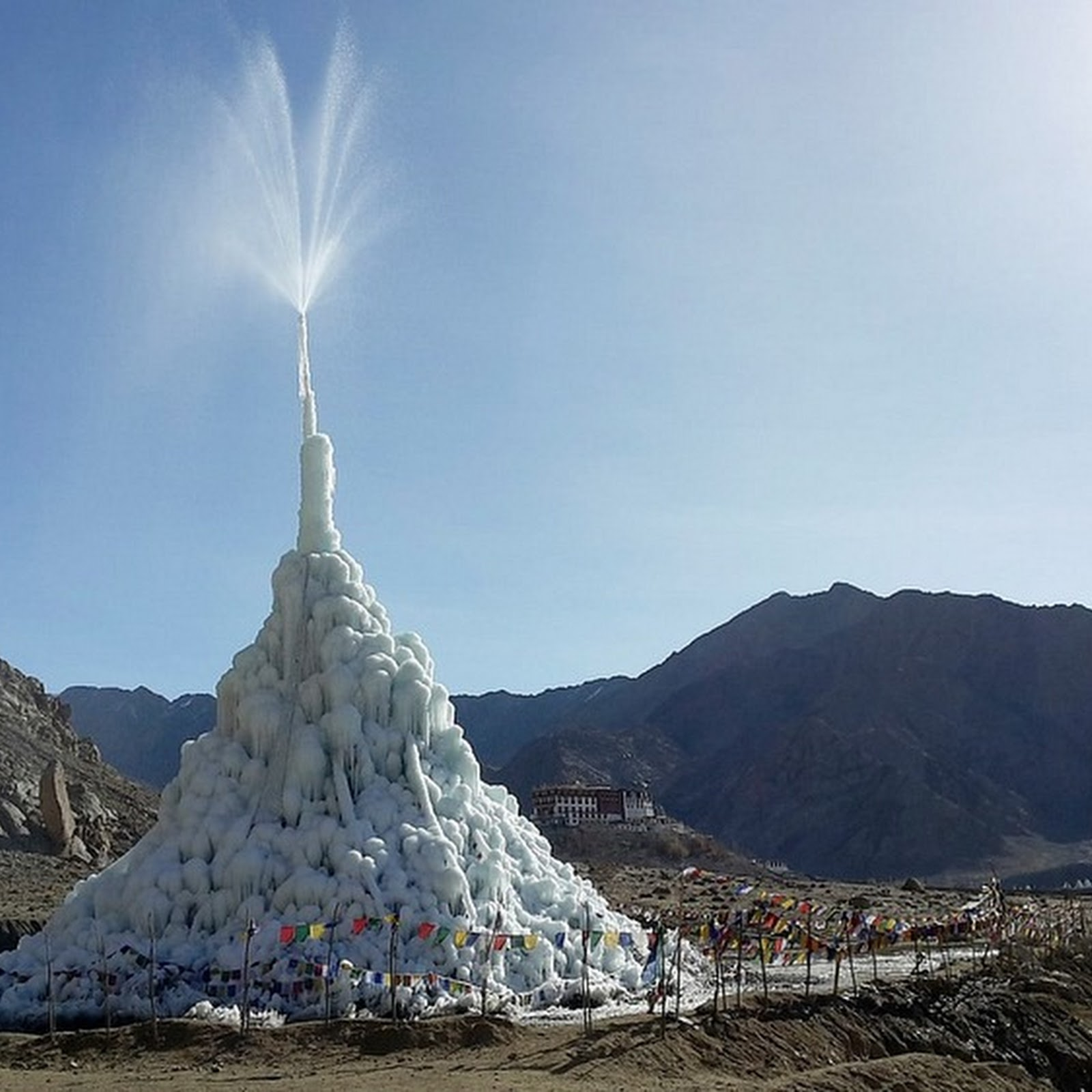 Ice Stupas: These Artificial Glaciers Are Solving Water Crises in The Himalayas