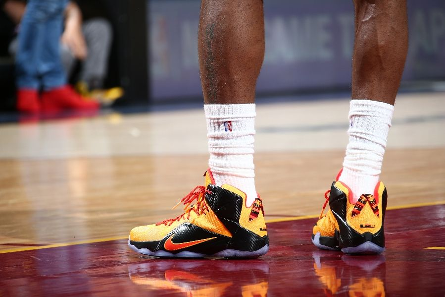 reputable site ce8ca d33cb ... LeBrons Game 3 Shoe Close Ups LeBron 12 Elite PE amp Witness GR ...