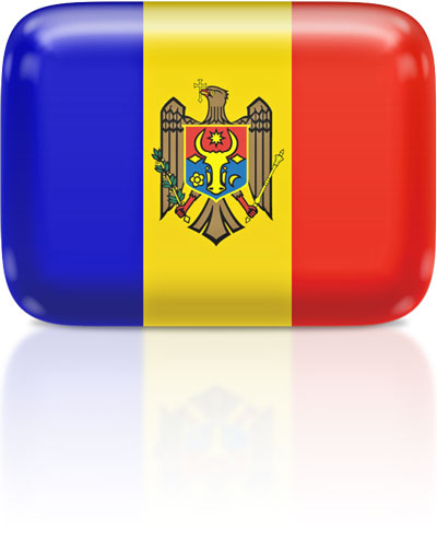 Moldovan flag clipart rectangular
