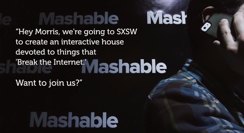 "This week Morris the Cat is helping Mashable ""Break the Internet"" at SXSW"