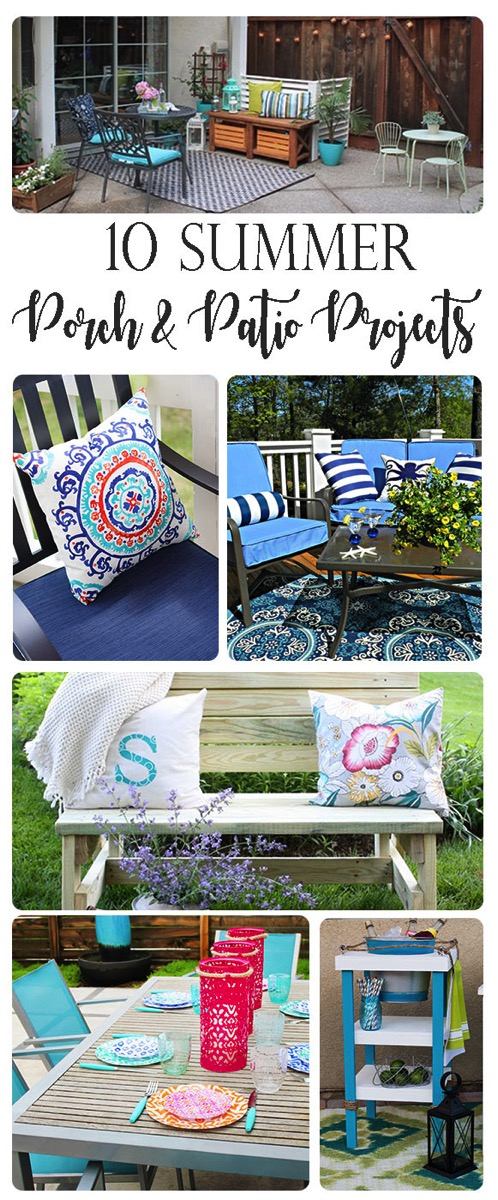 10 Porch and Patio Projects Perfect for Summer. From full backyard makeovers to building projects and decor ideas, these 10 projects will get you exited to fix up your outside space for summer.