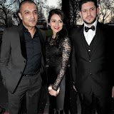 WWW.ENTSIMAGES.COM -  Adil Ray and his team  arriving at      The Asian Awards at Grosvenor House, 86-90 Park Lane, London April 16th 2013                                            Photo Mobis Photos/OIC 0203 174 1069