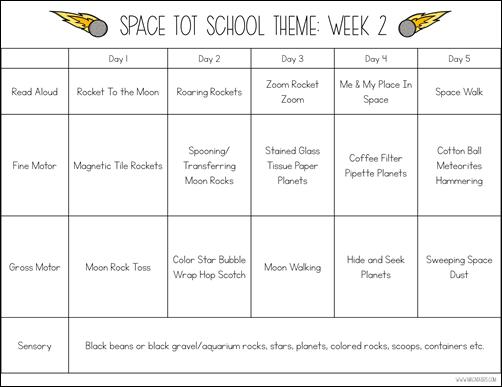 Space Tot School Theme