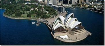 Austrália - foto aérea Ópera 2