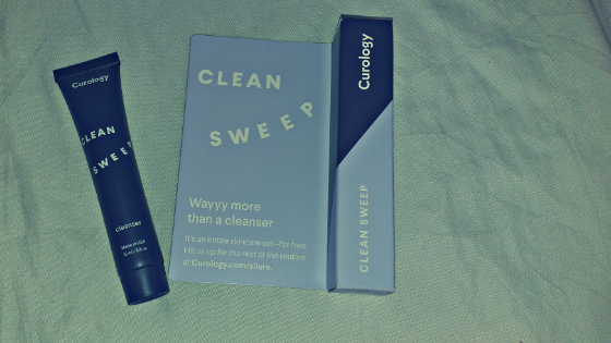 The cleanser from curology and the packaging