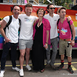 OIC - ENTSIMAGES.COM - Daniel Brocklebank, Gemma Atkinson, Guy Henry and Joe McFadden at the    Pride in London Parade  27th June 2015  27th June 2015   Photo Mobis Photos/OIC 0203 174 1069