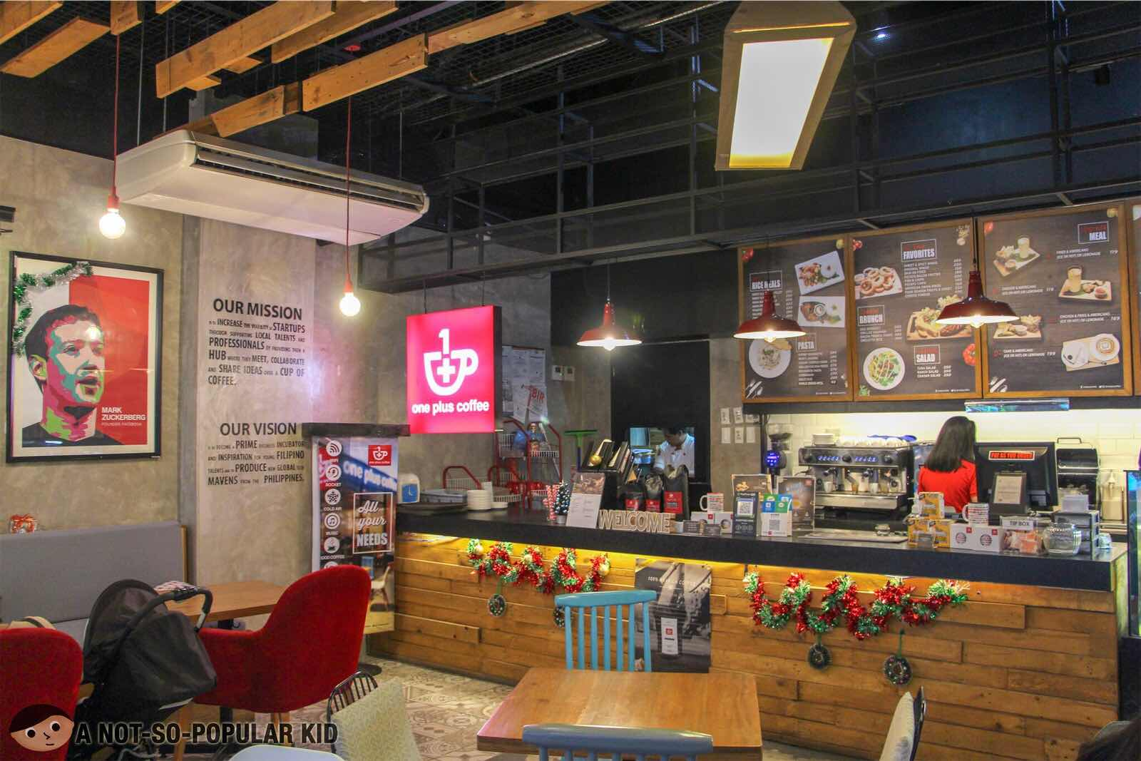 Interior of One Plus Coffee in Makati