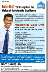 nbcc recruitment through gate advertisement 2018 www.indgovtjobs.in