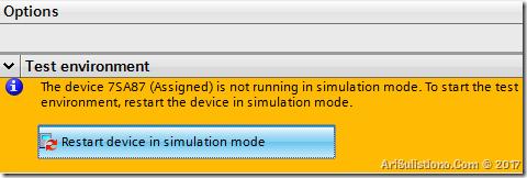 Restart Device dalam mode Simulasi
