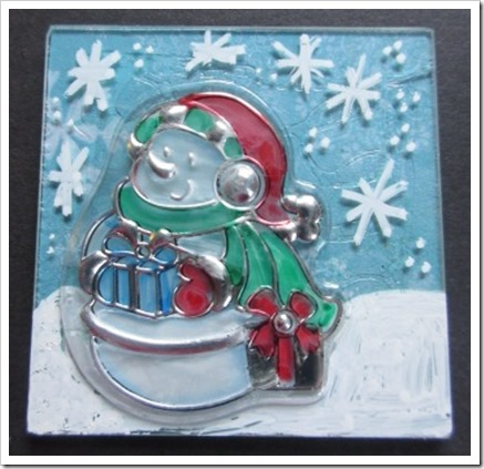 Memory Glass Snowman decoration
