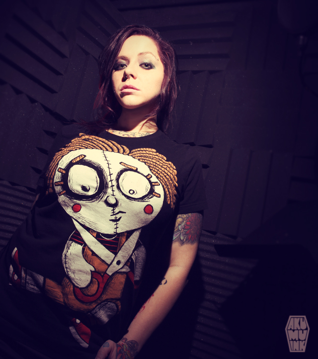 pinup, cosplay model, horror girl, goth girl, tattoo model, alternative model, goth model, akumuink
