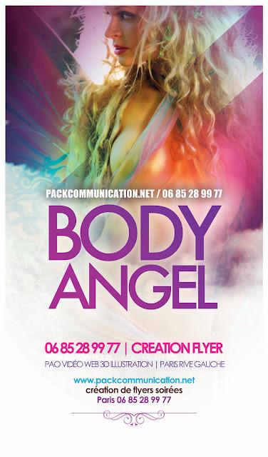 création flyers soirées thème Body Angel