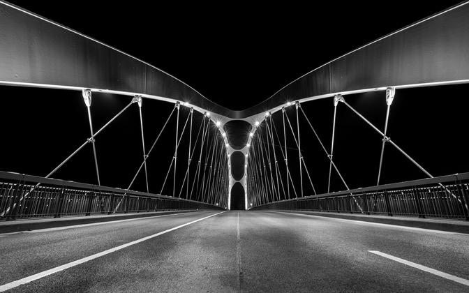 East harbor bridge from Frankfurt am Main by Bart_Achilles1