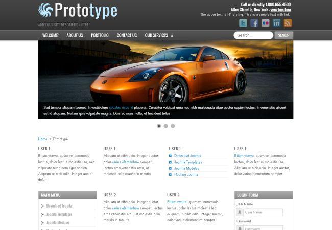 Free Cars News Blog Joomla Theme Template