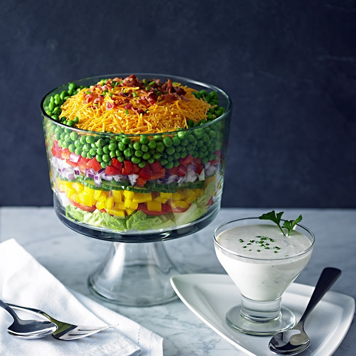 Layered Chopped Salad Recipe