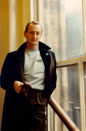 Nancy liked the light on me in this London hallway and snapped this picture during a publicity campaign.