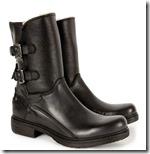 Sheepskin Lined Biker Boots
