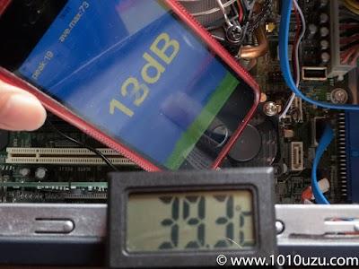 PWMあり4cmファン:13dB 39.3℃
