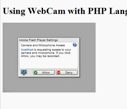 Using WebCam with PHP Langauge :.: tisuchi.com