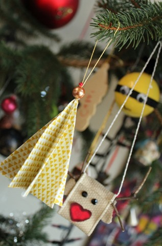 Fabric Christmas Tree ornament by Kim Lapacek