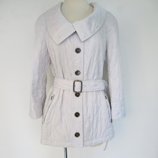 Burberry White Quilted Coat