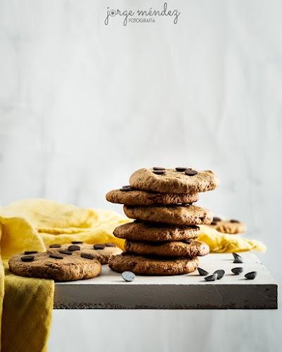 Galletas de Espelta y Crema de Cacahuete con Chips de Chocolate