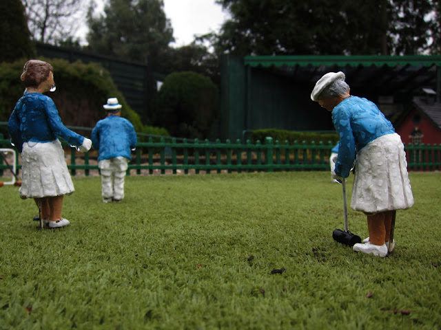 Croquet in the Rain - Photograph by Tim Irving