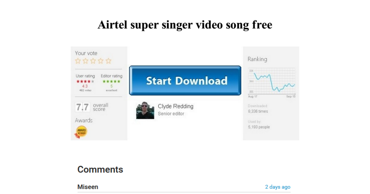 airtel super singer video song free download