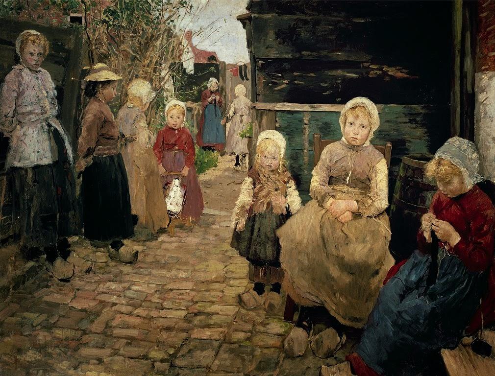 Fritz von Uhde - Fischerkinder in Zandvoort