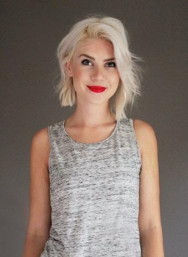 Medium Short Hairstyles Long Blonde