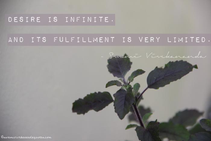 Swami Vivekananda Words of Wisdom about Desire