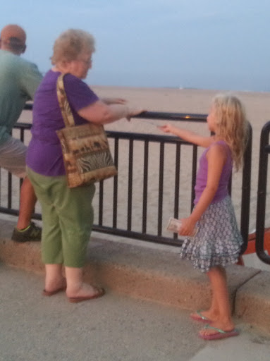 God uses kids too! This is Chloe giving a gospel tract to a woman who took it from her. :)