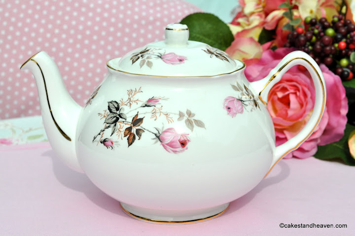Duchess Pink Roses Vintage China Teapot
