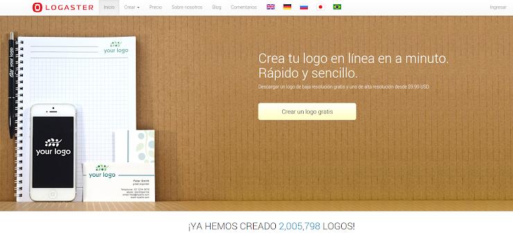 Logaster, herramienta para Crear logos