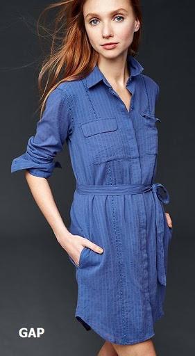 Vestido de algodón teñido estilo camisero